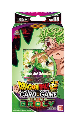 Dragonball Super Card Game Season 6 starter deck Rising Broly *ANGLAIS*