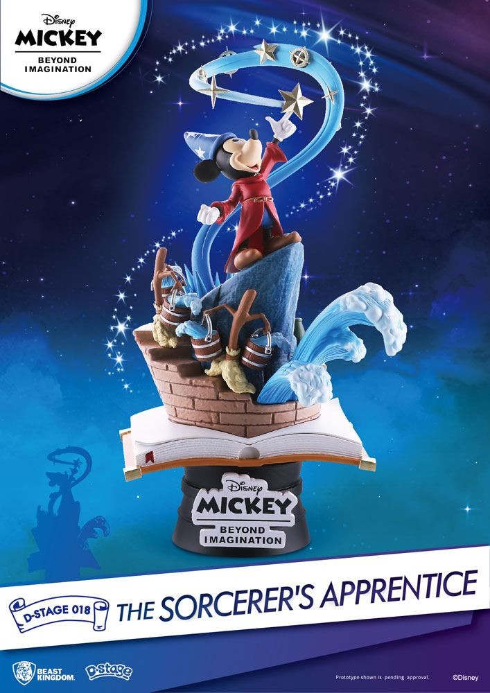 Mickey Beyond Imagination diorama PVC D-Stage The Sorcerer's Apprentice 15 cm