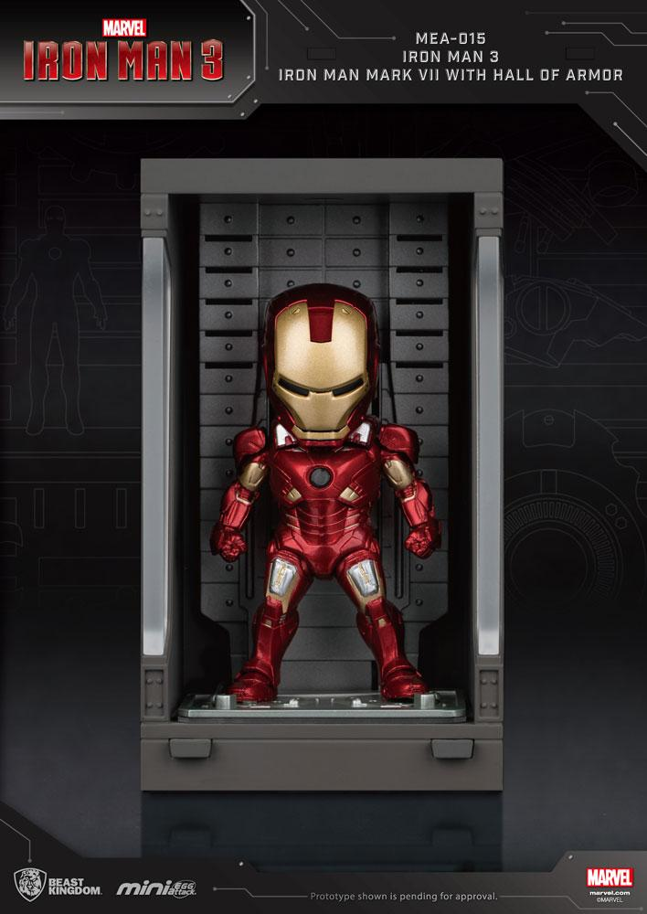 Iron Man 3 Mini Egg Attack figurine Hall of Armor Iron Man Mark VII 8 cm