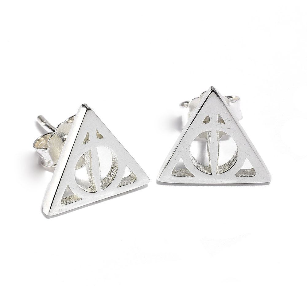 Harry Potter boucles d´oreille argent Deathly Hallow