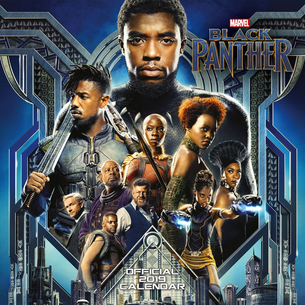 Black Panther calendrier 2019 *ANGLAIS*