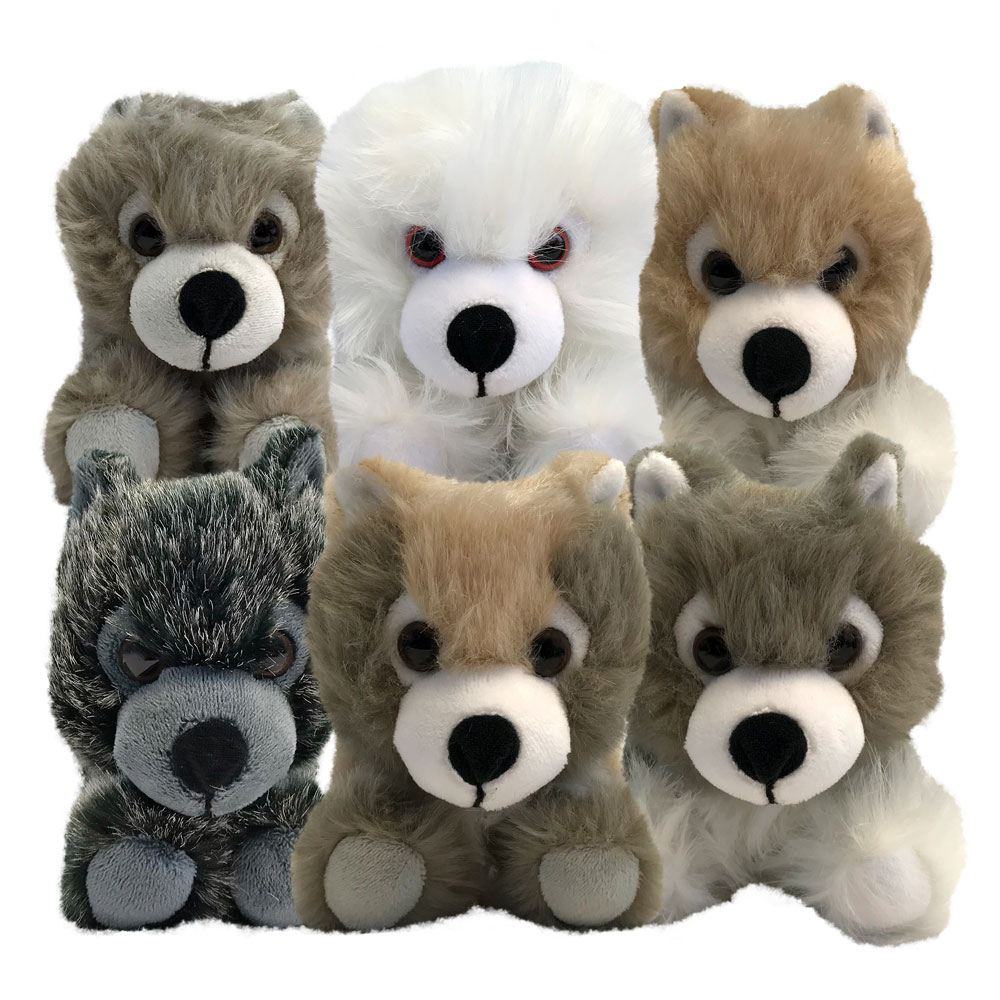 Game of Thrones pack 6 peluches bébés Loups SDCC 2018 Exclusive 20 cm