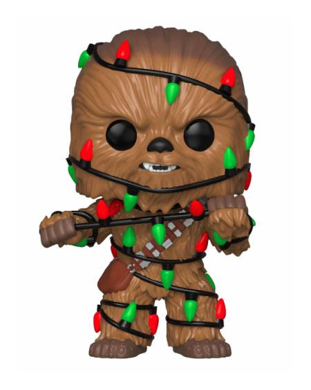 Star Wars POP! Vinyl Bobble Head Holiday Chewbacca with Lights 9 cm