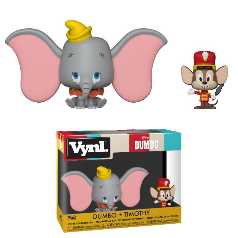 Dumbo pack 2 VYNL Vinyl figurines Dumbo & Timothy 10 cm