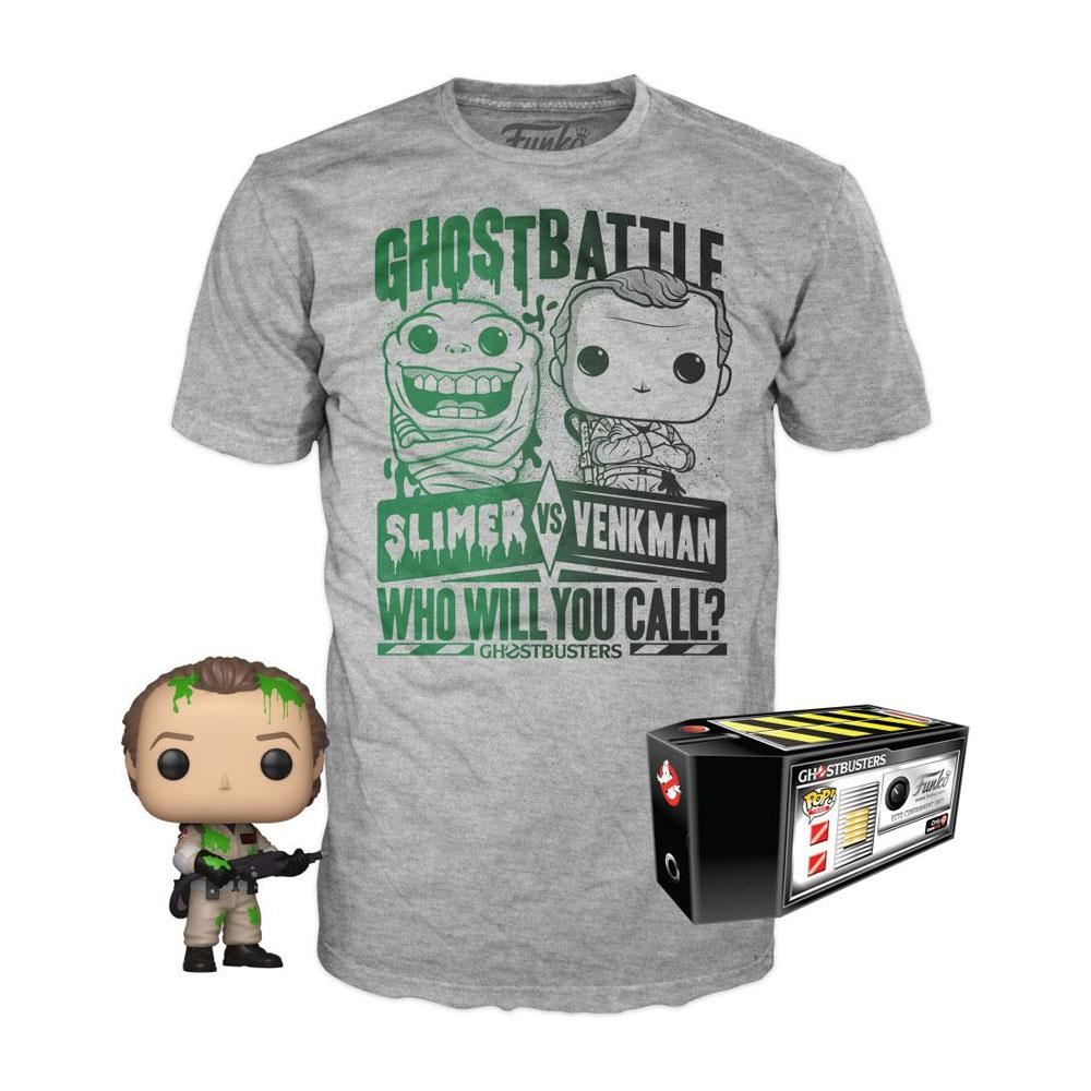 SOS Fantômes POP! & Tee set figurine et T-Shirt Dr. Peter Venkman heo Exclusive (L)