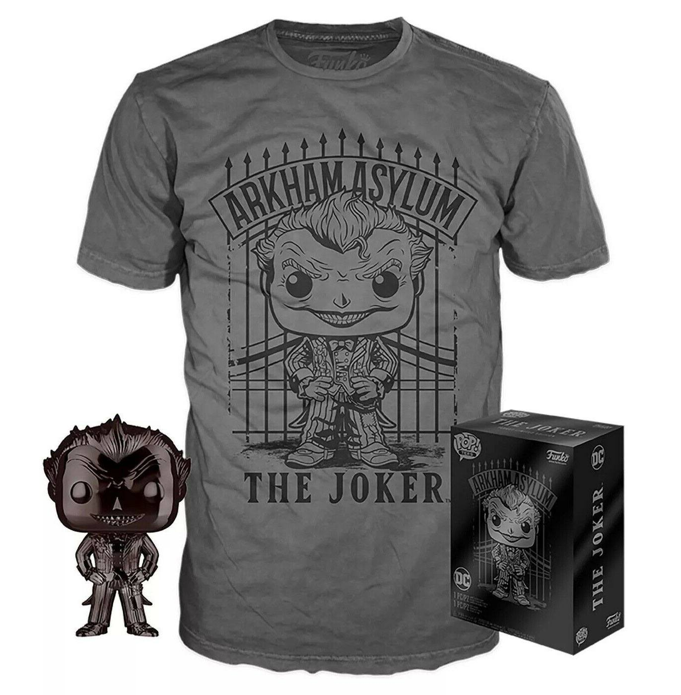 DC Comics POP! & Tee set figurine et T-Shirt The Joker heo Exclusive (L)