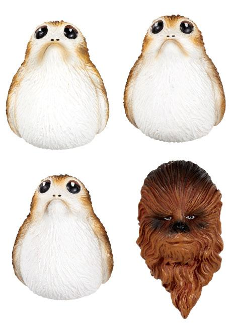 Star Wars Episode VIII pack aimants Chewbacca & Porgs