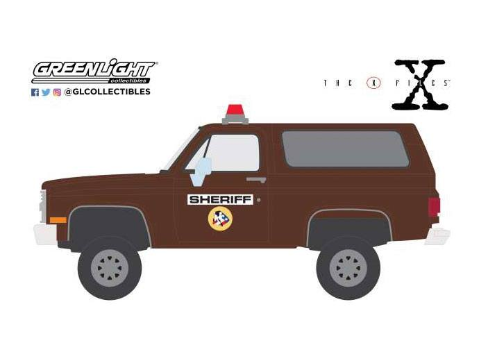 X-Files 1981 Chevrolet K-5 Blazer Sheriff 1/64 métal