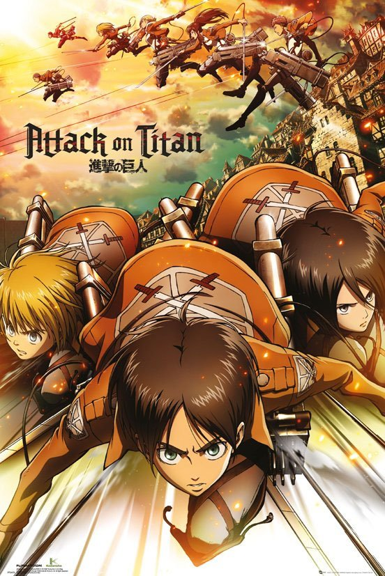 Attack on Titan pack posters Attack 61 x 91 cm (5)