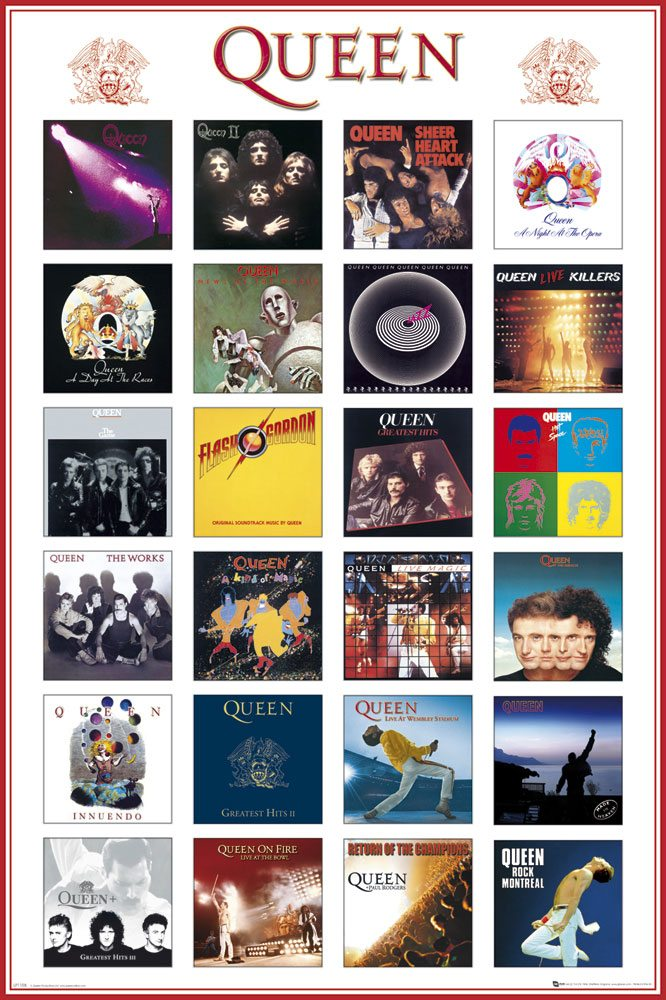 Queen pack posters Covers 61 x 91 cm (5)