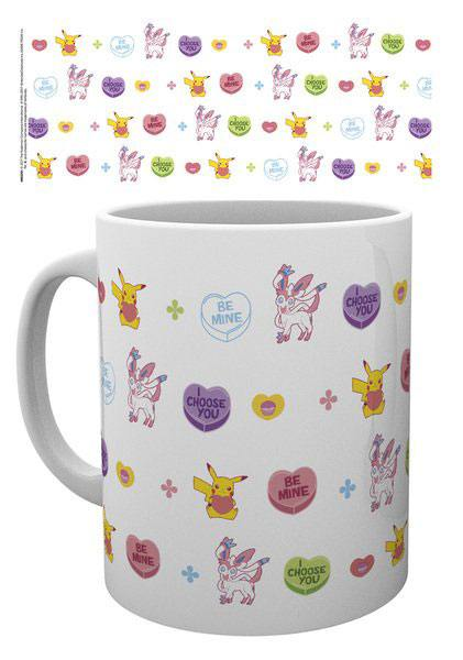 Pokemon mug Valentine Hearts