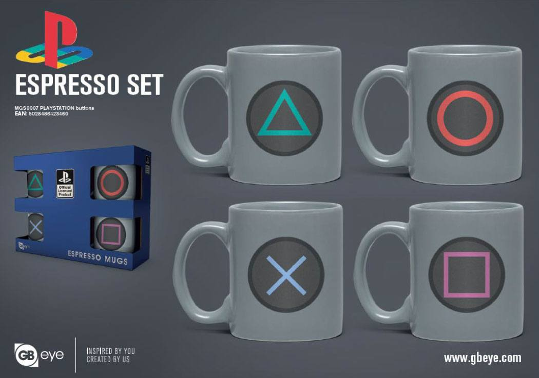 PlayStation pack 4 tasses Espresso Buttons