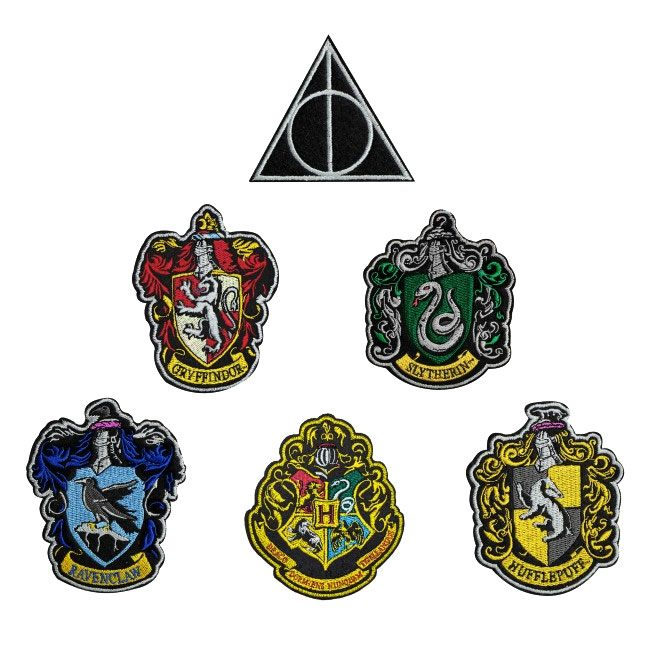 Harry Potter pack 6 écussons House Crests
