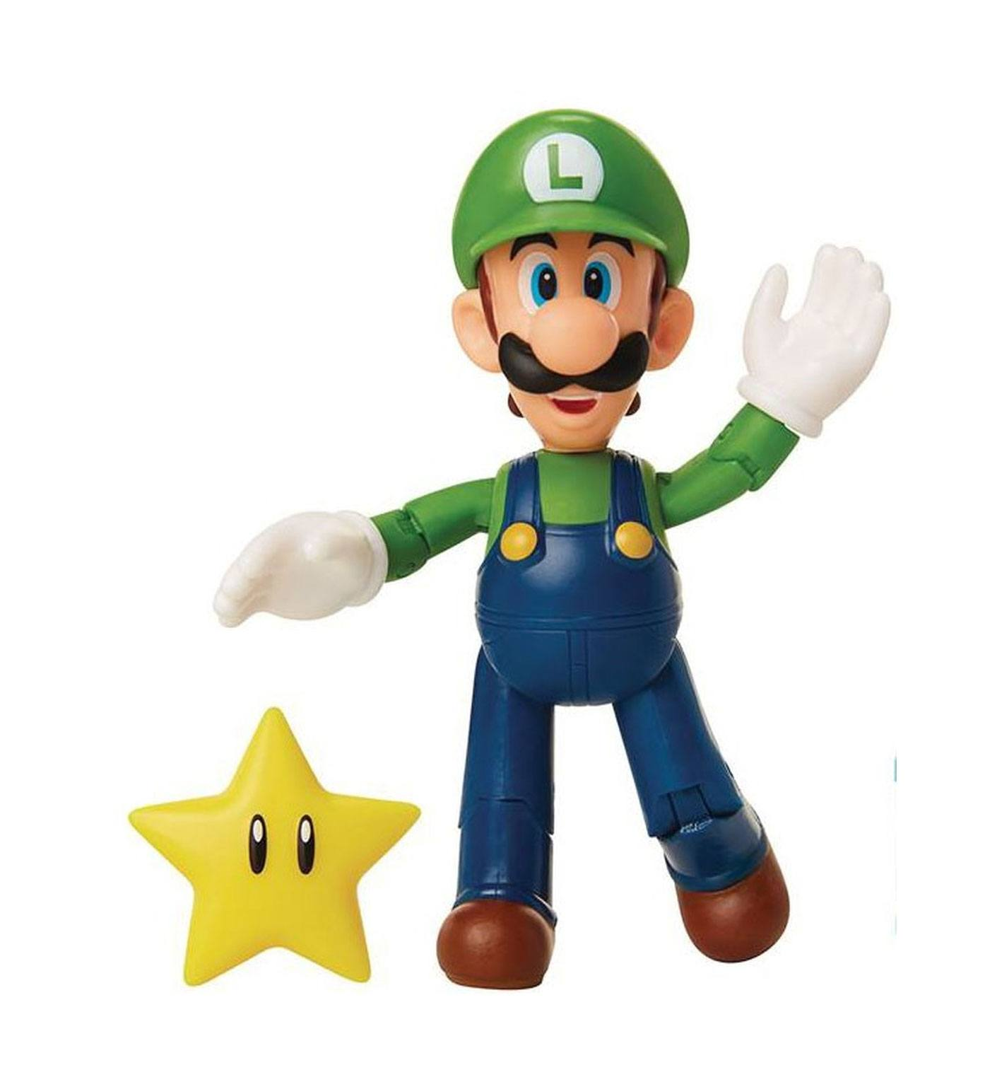 World of Nintendo figurine Luigi with Super Star 10 cm