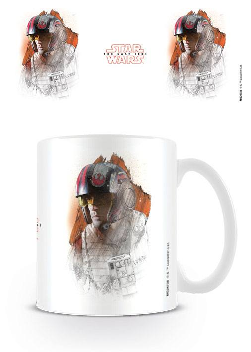 Star Wars Episode VIII mug Poe Brushstroke