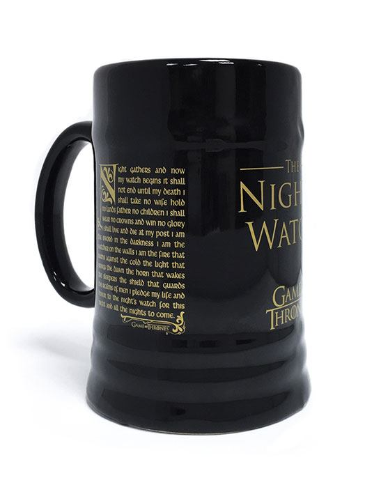 Le Trône de fer chope céramique Night's Watch Oath