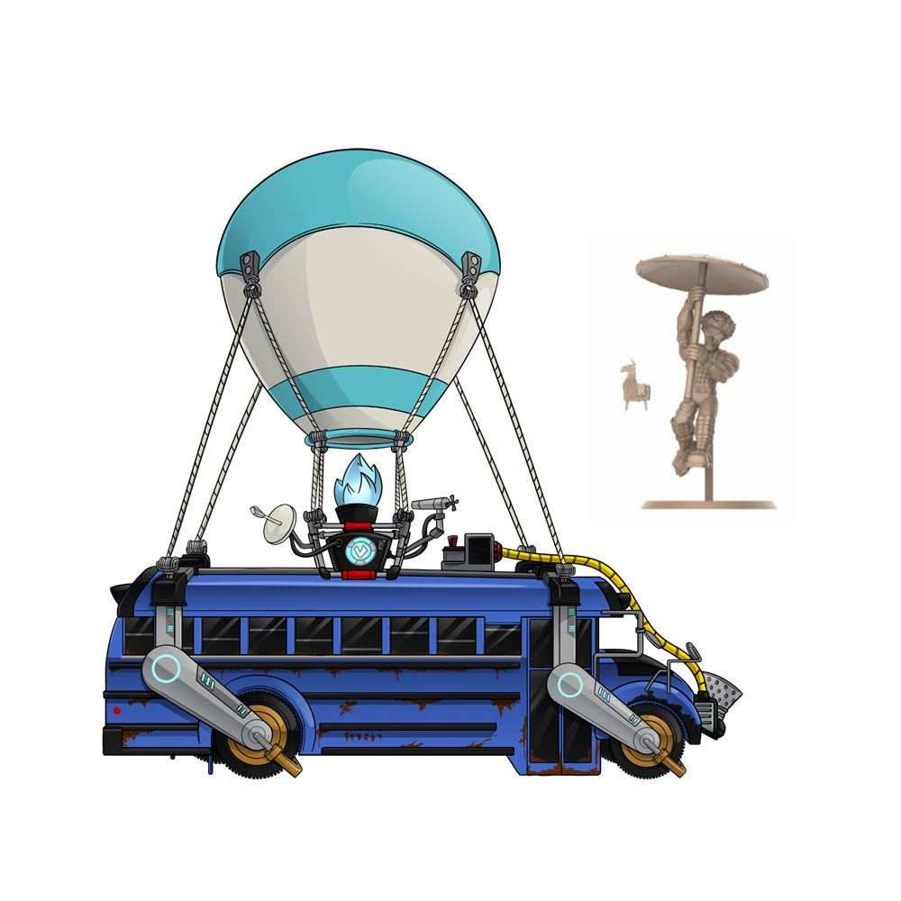 Fortnite playset Battle Royale Collection Battle Bus