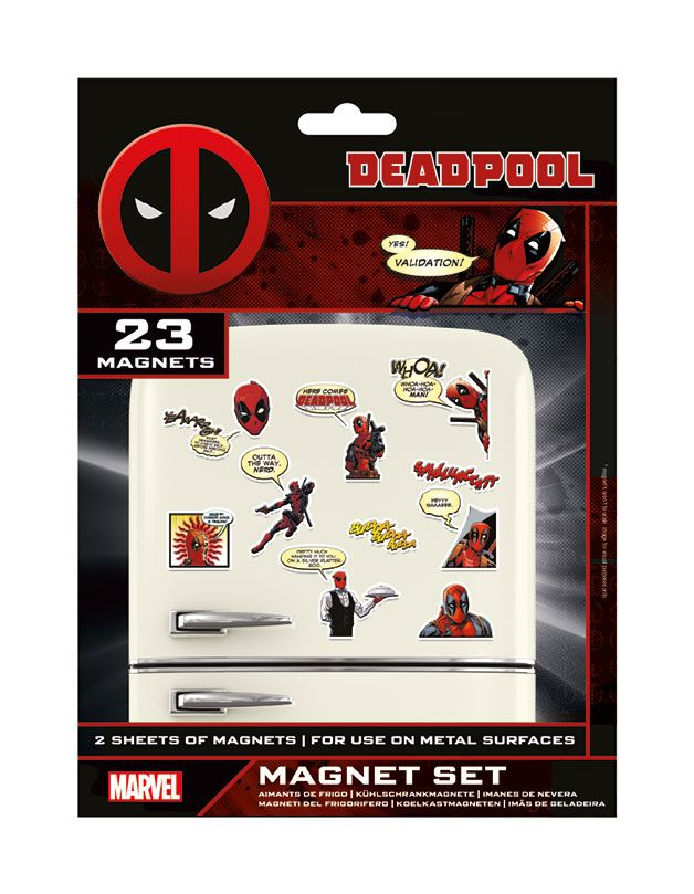 Deadpool pack aimants Comic