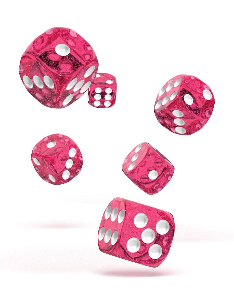 Oakie Doakie Dice dés D6 16 mm Speckled - Rose (12)