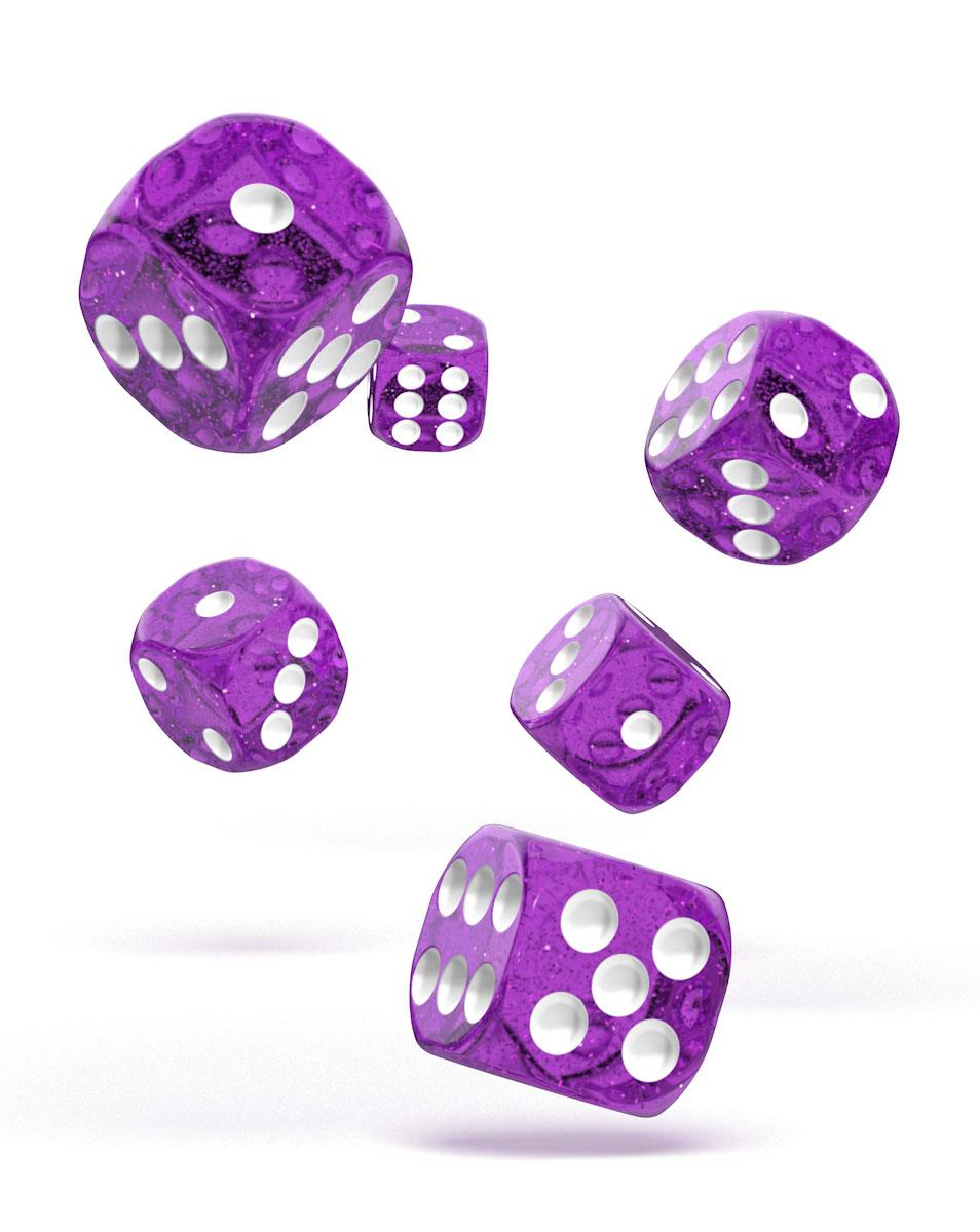 Oakie Doakie Dice dés D6 16 mm Speckled - Violet (12)