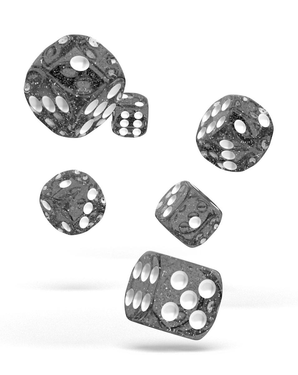 Oakie Doakie Dice dés D6 16 mm Speckled - Noir (12)
