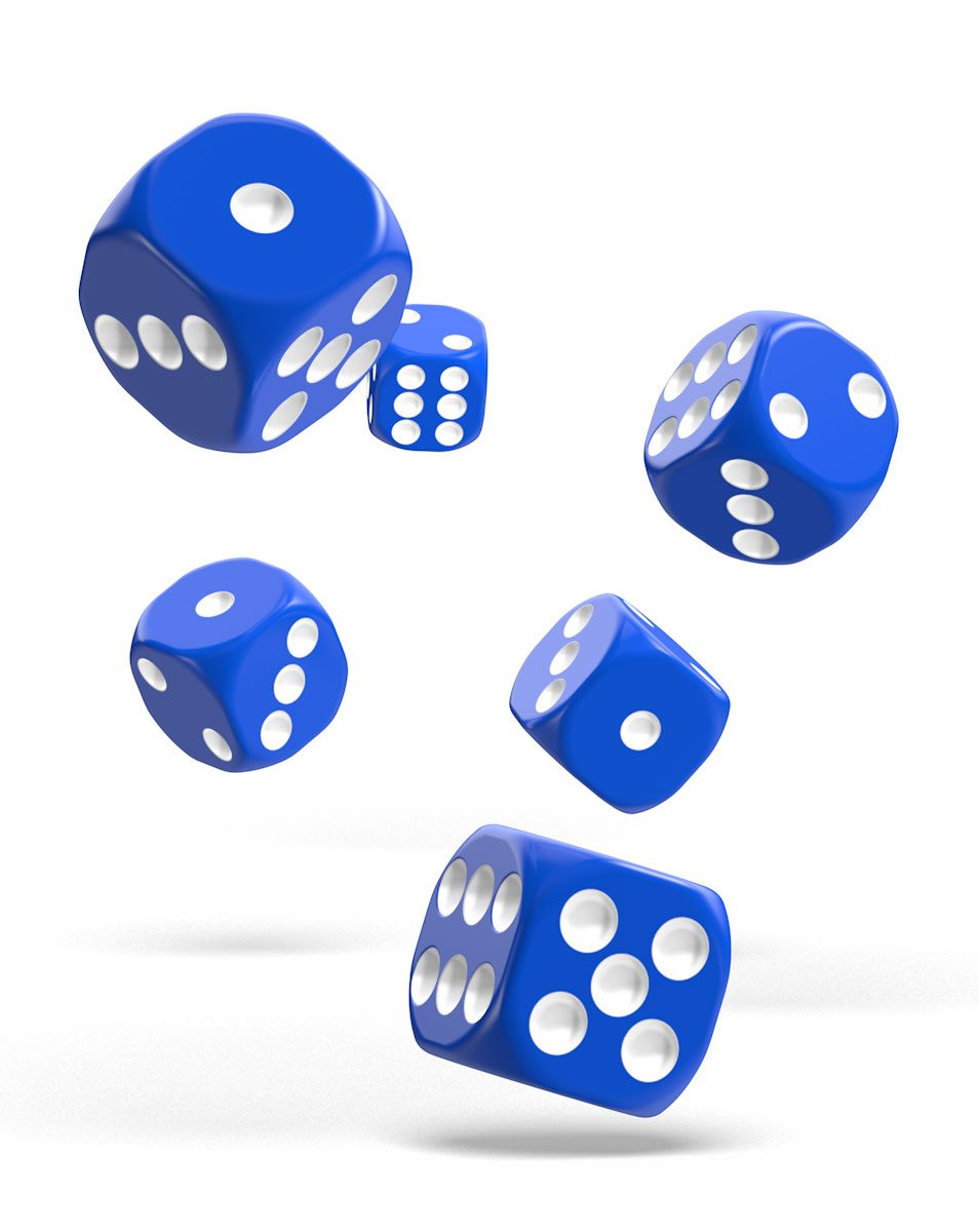 Oakie Doakie Dice dés D6 16 mm Solid - Bleu (12)