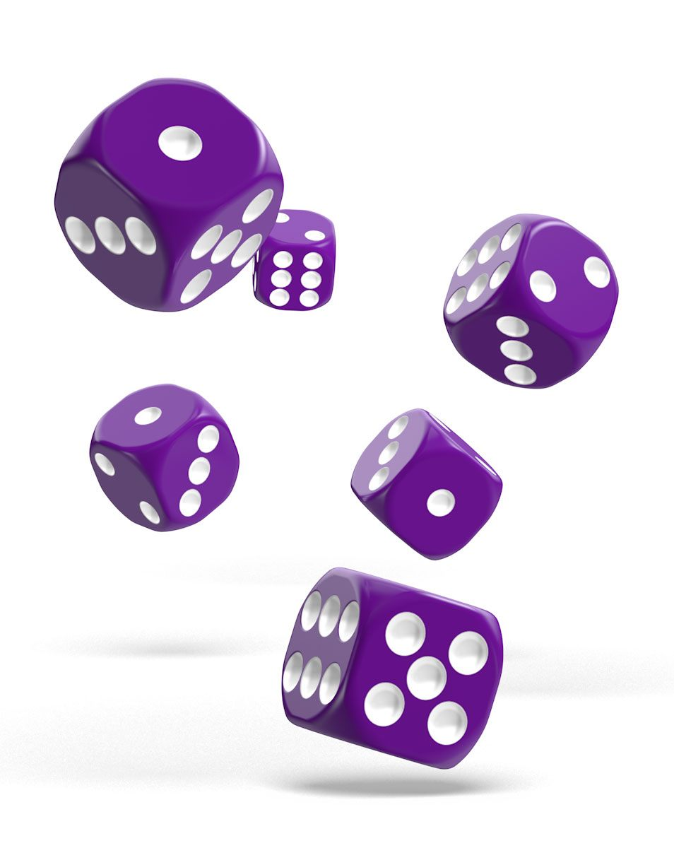 Oakie Doakie Dice dés D6 16 mm Solid - Violet (12)