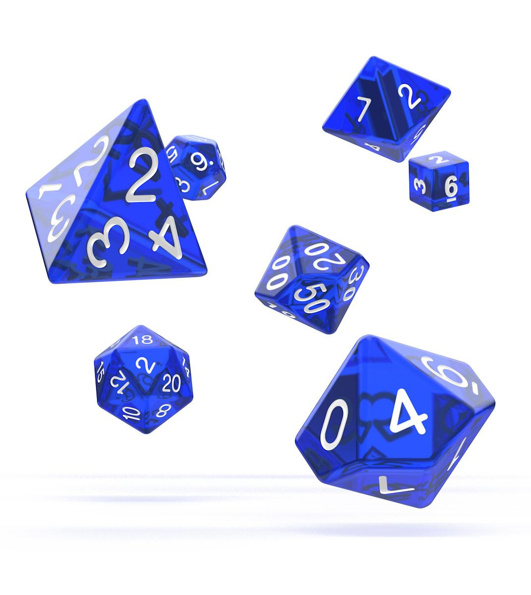 Oakie Doakie Dice dés RPG-Set Translucent - Bleu (7)