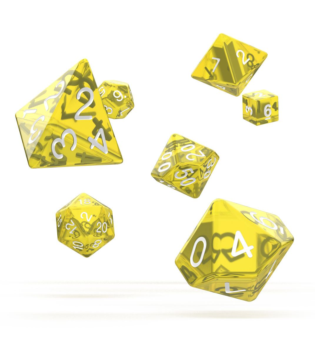 Oakie Doakie Dice dés RPG-Set Translucent - Jaune (7)