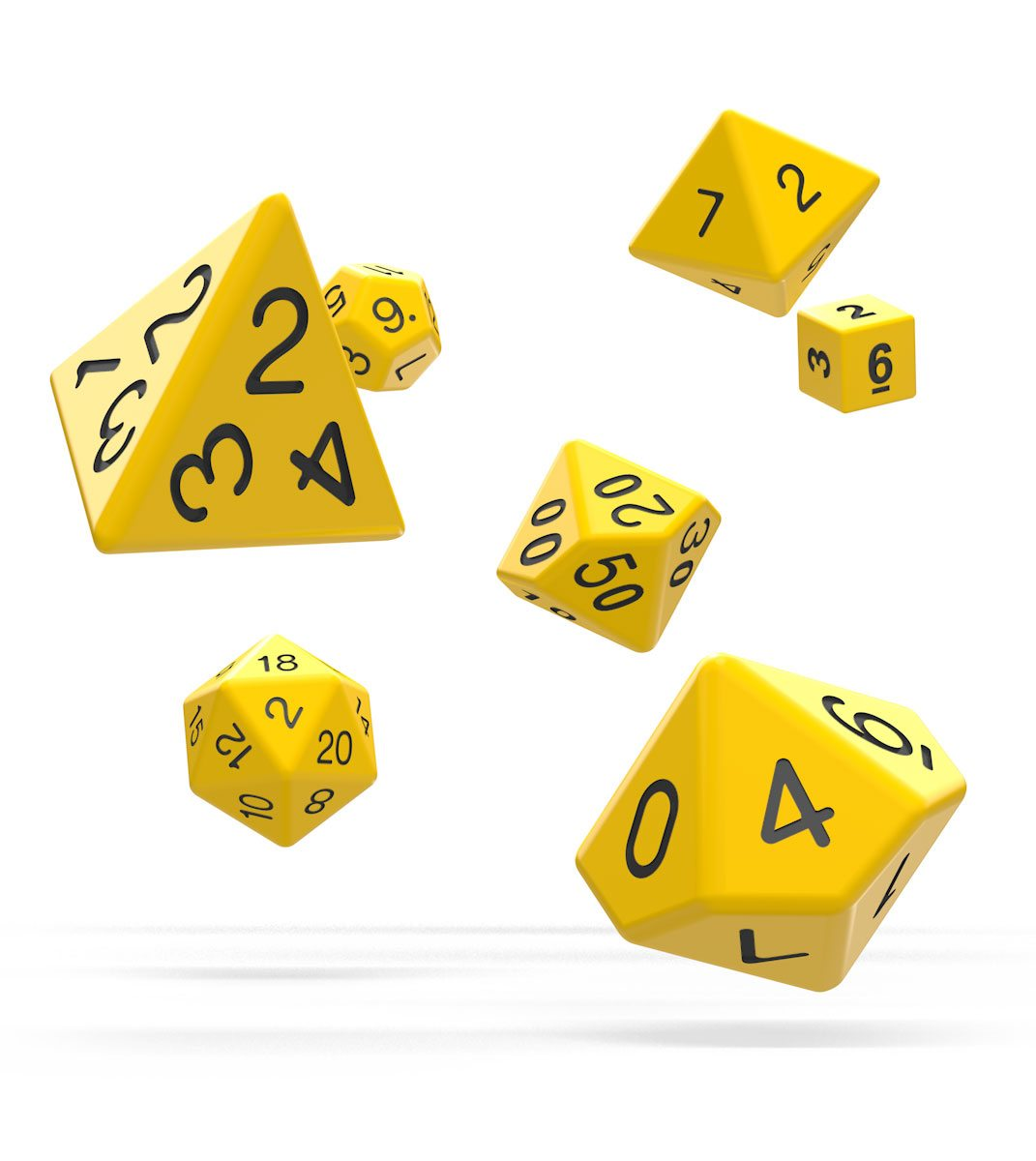 Oakie Doakie Dice dés RPG-Set Solid - Jaune (7)