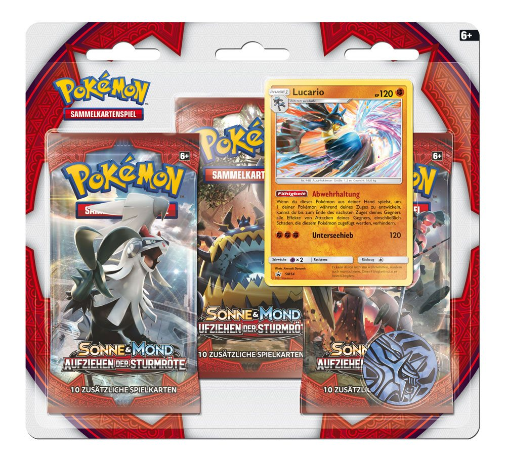 Pokemon Sun and Moon pack 3 booster Crimson Invasion *ALLEMAND*