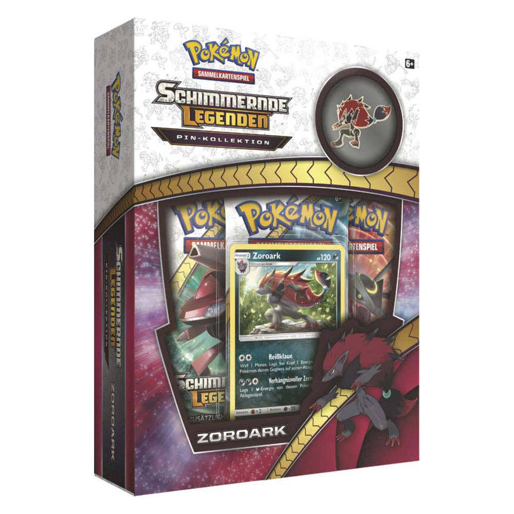Pokemon Shining Legends Pin Box Zoroark *ALLEMAND*
