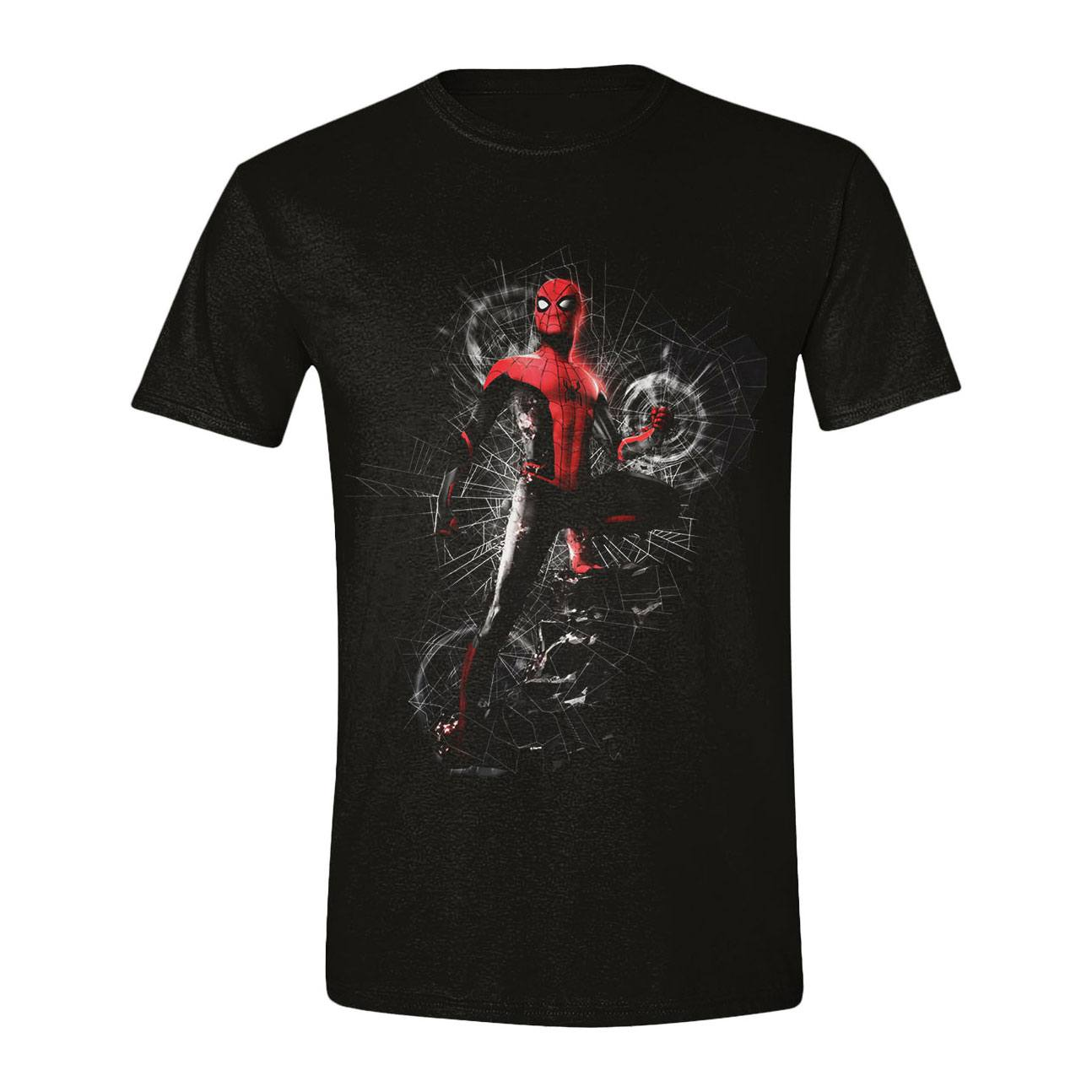 Spider-Man : Far From Home T-Shirt Cracked Web (S)