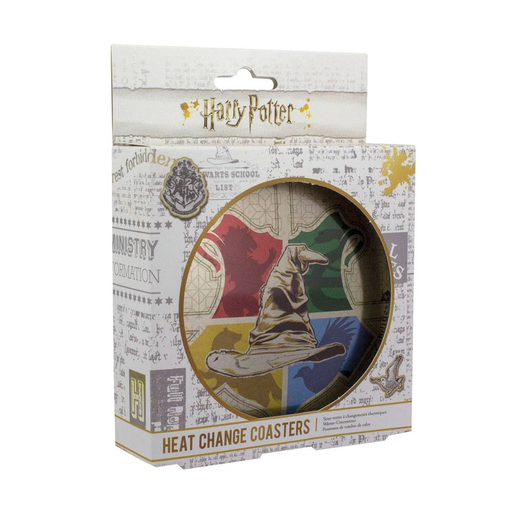 Harry Potter pack 4 sous-verres effet thermique Sorting Hat