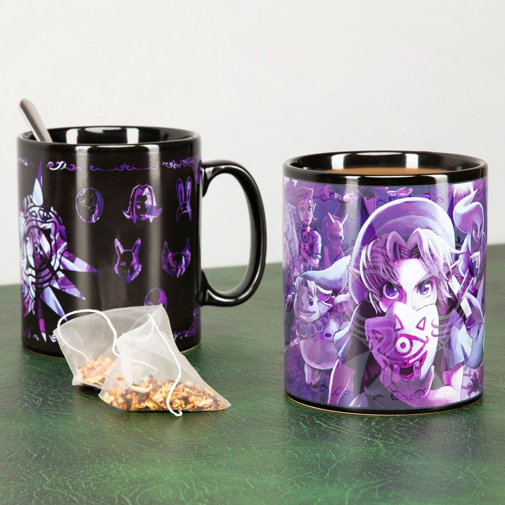 The Legend of Zelda mug XL effet thermique Majoras Mask