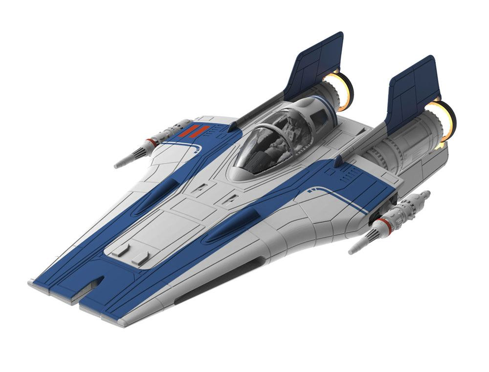 Star Wars pack maquette Build & Play sonore et lumineuse 1/44 Resistance A-Wing Fighter Blue