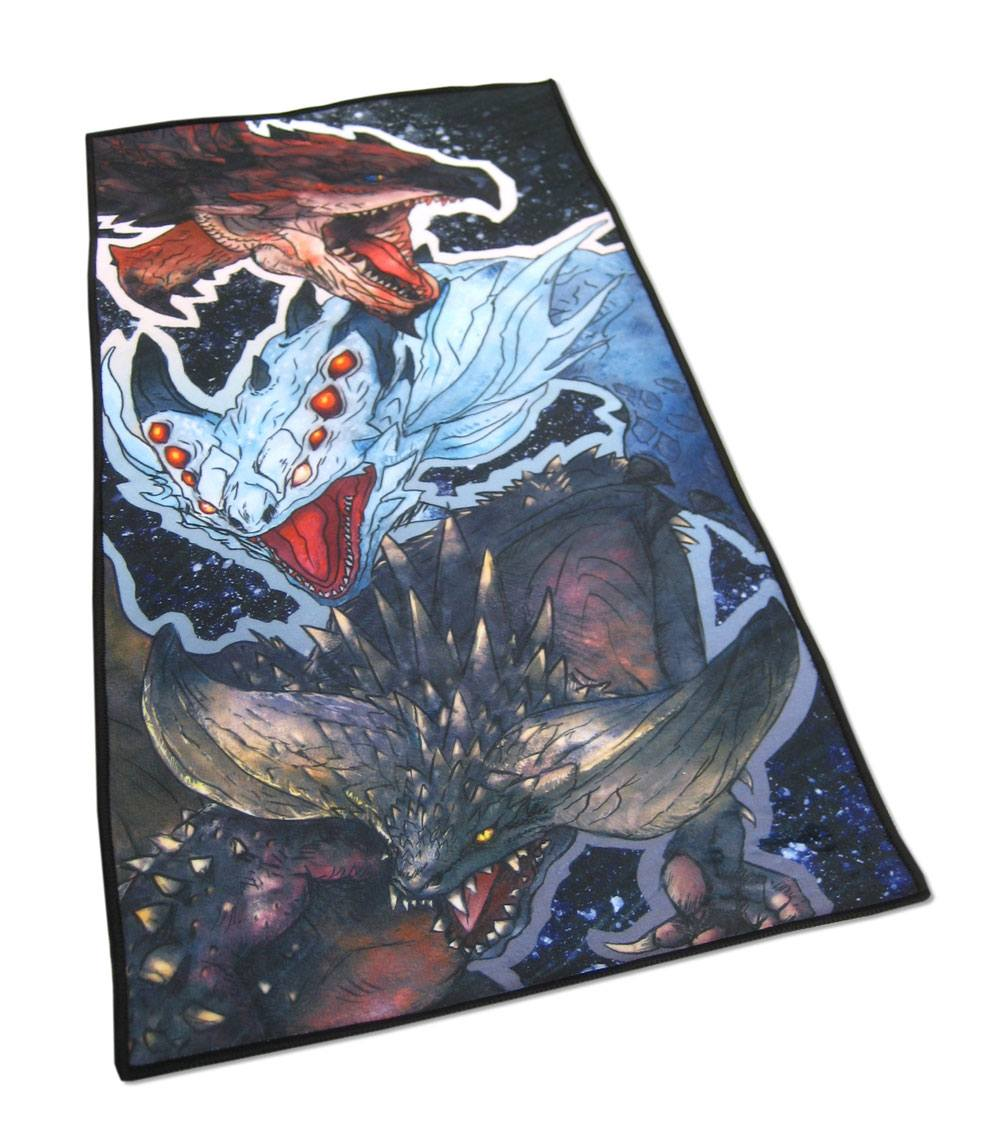 Monster Hunter World serviette de bain Rathalos, Xenojiva & Nergikante 70 x 35 cm