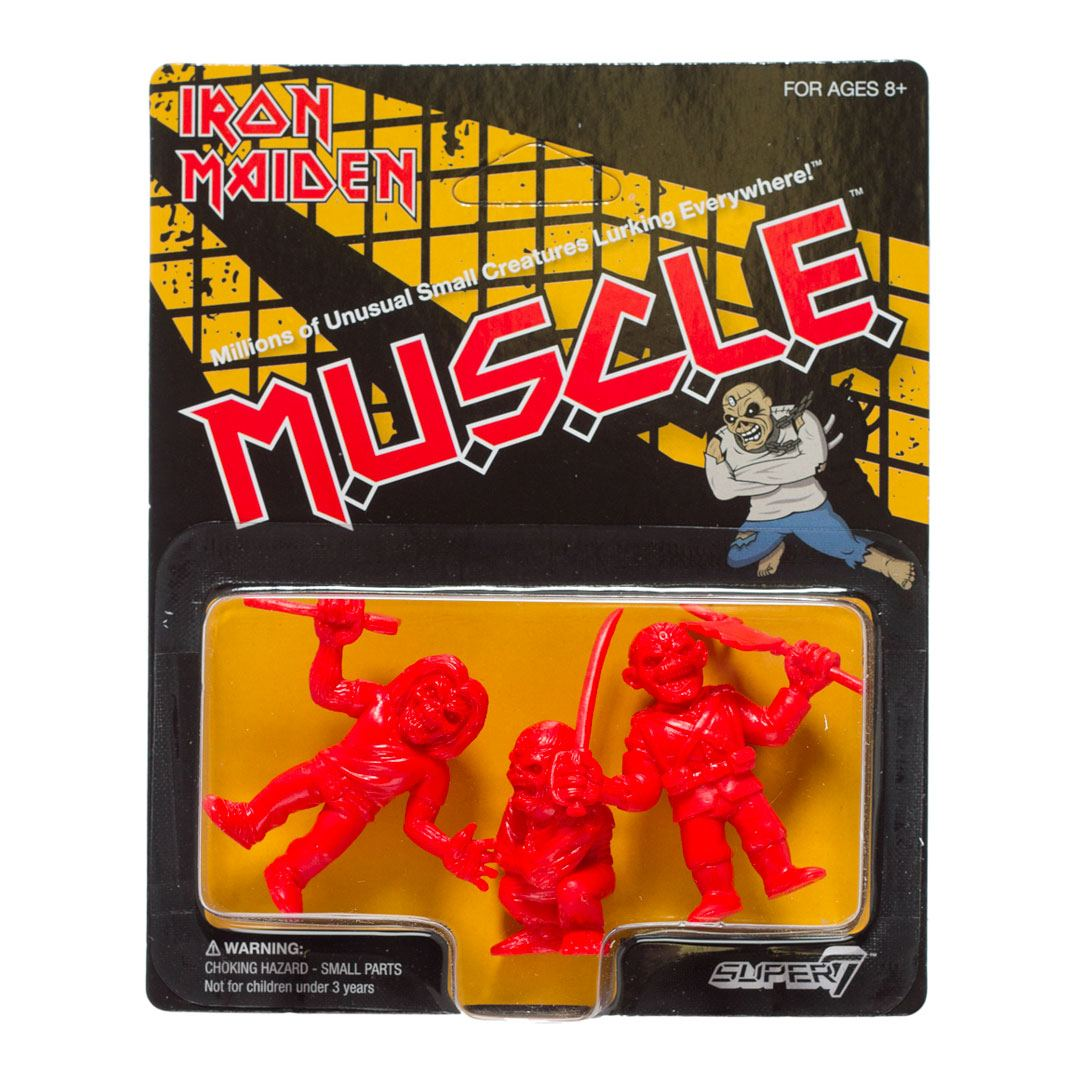 Iron Maiden pack 3 figurines MUSCLE (Red) 4 cm