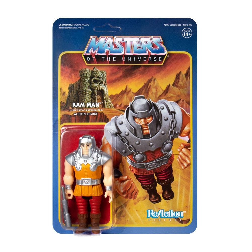 Masters of the Universe figurine ReAction Ram Man (Mini Comic) 10 cm