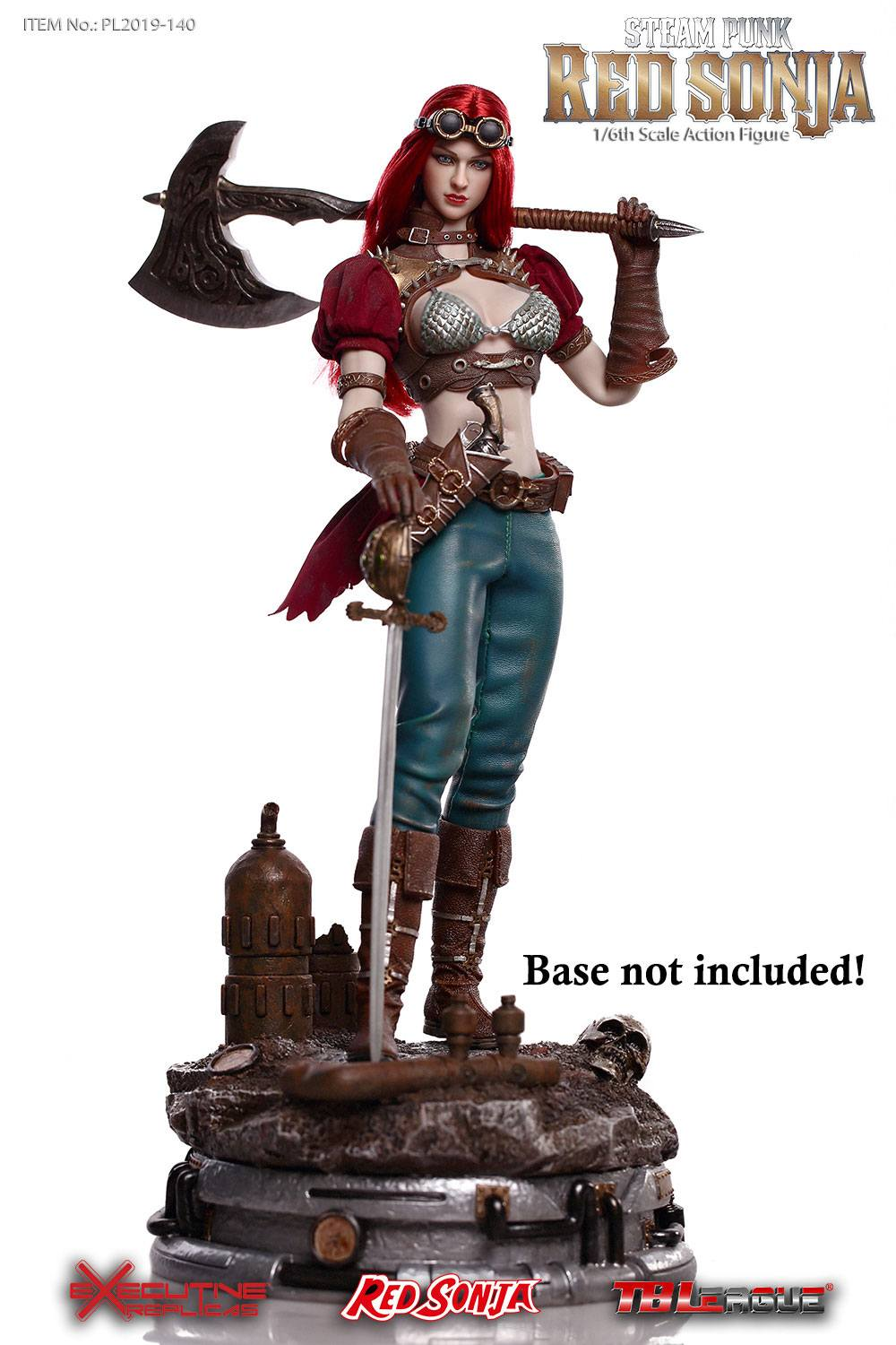 Red Sonja figurine 1/6 Steampunk Red Sonja Classic Version 29 cm