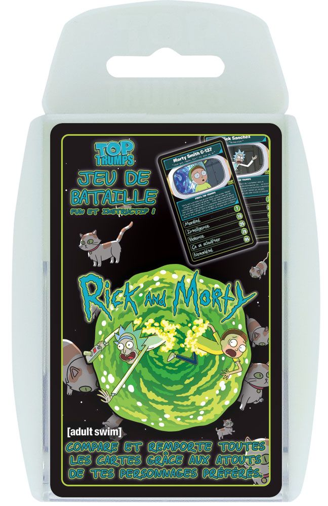 Rick & Morty jeu de cartes Top Trumps *FRANCAIS*