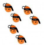 NINJA FRUIT Mini peluche strap sonore Orange 7cm