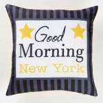 Housse de coussin Modele Good Morning NYC