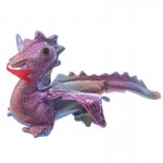 Presse papier animal de sable Dragon fushia
