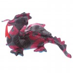 Presse papier animal de sable Dragon Noir & Rouge