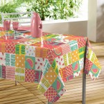 Nappe rectangle PVC Sweet fruit 140 x 240 cm