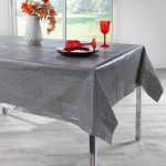 Nappe rectangle peva Alessa anthracite 140 x 240 cm
