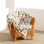 Fouta imprimé Collection Flamant Rose