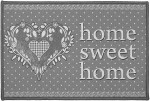 Tapis Multi-usage Home love gris 40x60cm