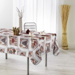 Nappe polyester Collection Ethnic Wood